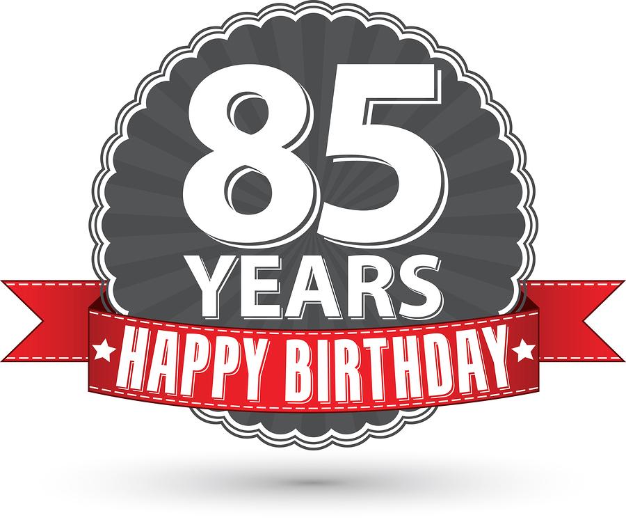Happy Birthday Retro Man Happy Birthday 85 Years Retro