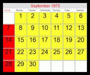 September 1975 WB