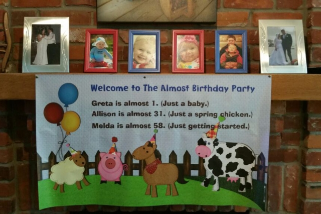 Almost Birthday Party Banner