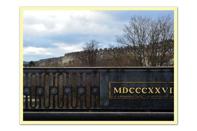 Roman numerals on bridge in Bath, UK